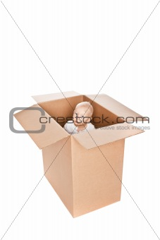 Baby boy in a box