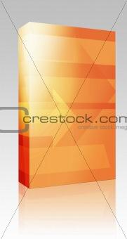 Forward arrows illustration box package