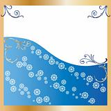 Golden Frame blue Background
