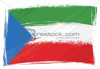 Grunge Equatorial Guinean flag
