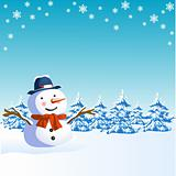 christmas design with snowman