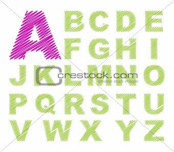 sketch design alphabet