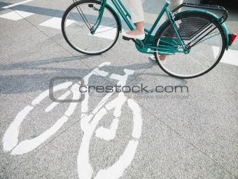 cycling lane sign
