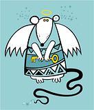 Christmas angel rat