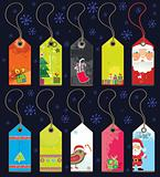 Christmas grunge tags