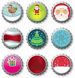Christmas bottle caps buttons