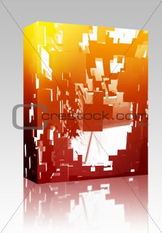 Abstract explosion illustration box package