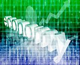 Finance economy trend concept illustration background improving upwards