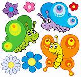 Cartoon butterflies collection