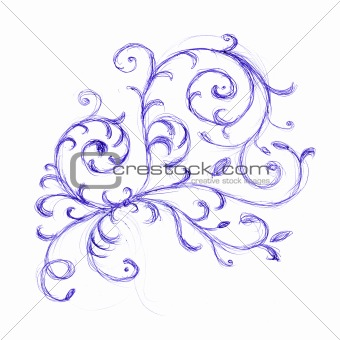 Floral ornament sketch for your design