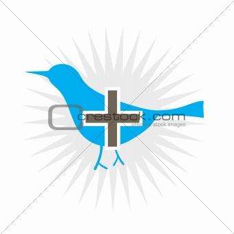 Blue Bird Add Icon