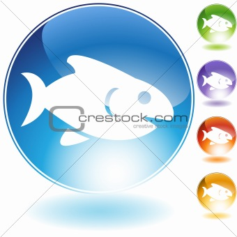 Fish Crystal Icon