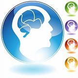Human Mind Crystal Icon