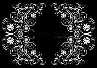 Abstract floral ornament