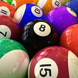 Billiards Balls Closeup