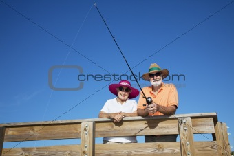 Senior Tourists Fishing