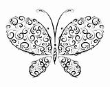Butterfly silhouette ornament  for you design