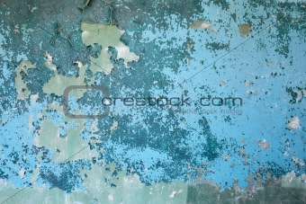 Old blue weathered concrete wall background