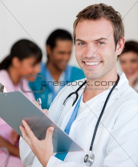 Young male Doctor Smiling at the camera