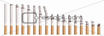 Time lapse - Burning cigarette