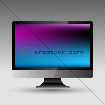 Flat LCD editable vector file