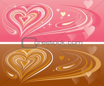 abstract heart pattern design background
