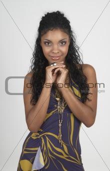 Beautiful brunette woman