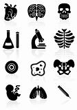Biology Icon Set - Black