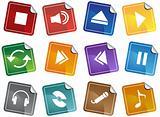 Multimedia Buttons - Sticker