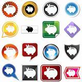 Multiple Buttons - Piggy Bank