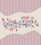 Pink vector flowers and stripes