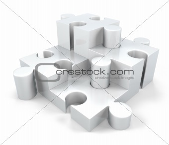3D Jigsaw Puzzle Pieces