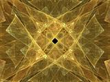Yellow Abstract Fractal