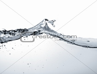 water wave against white background