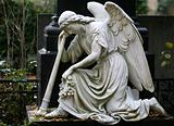Stone Statue of angel in a Cemetery