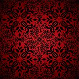abstract floral hot red