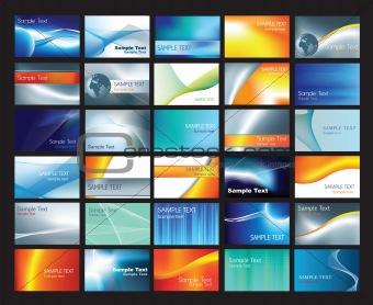 business card template set