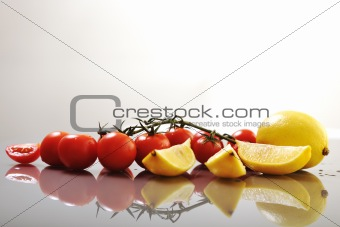 tomato and lemon