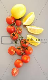 tomato and lemon