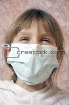happy child with mask