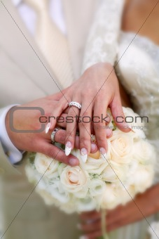 A wedding etude is in colors, weddings rings