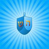 Hanukkah background with dreidel