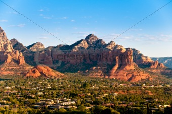 Arizona Red Rocks durind sunrise