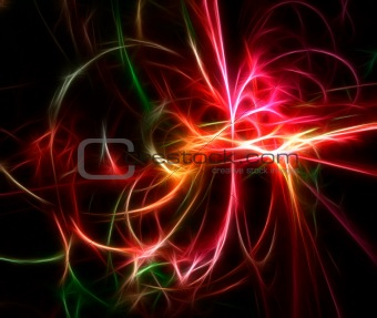 Colored explosion fractal glow