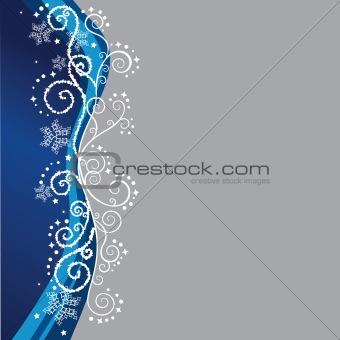 Blue Christmas border design