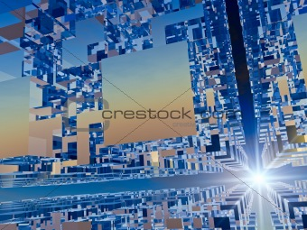Abstract Business Speed Background