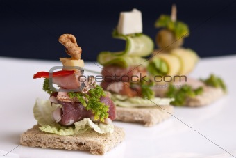 Three canape