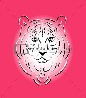 Tiger stylized graphic