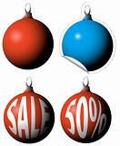 Christmas bulbs as a sale tags