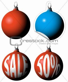 Christmas bulbs as a sale tags